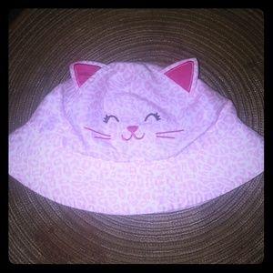 Pink kitty sunhat